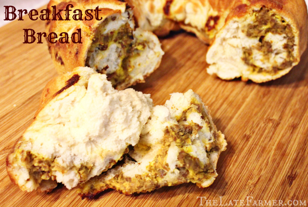 A delicious recipe from my house to yours! Breakfast bread - TheLateFarmer.com