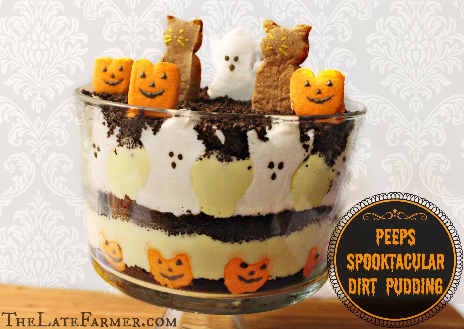 Dirt Cake Ideas For Halloween : Peeps Spooktacular Dirt Pudding