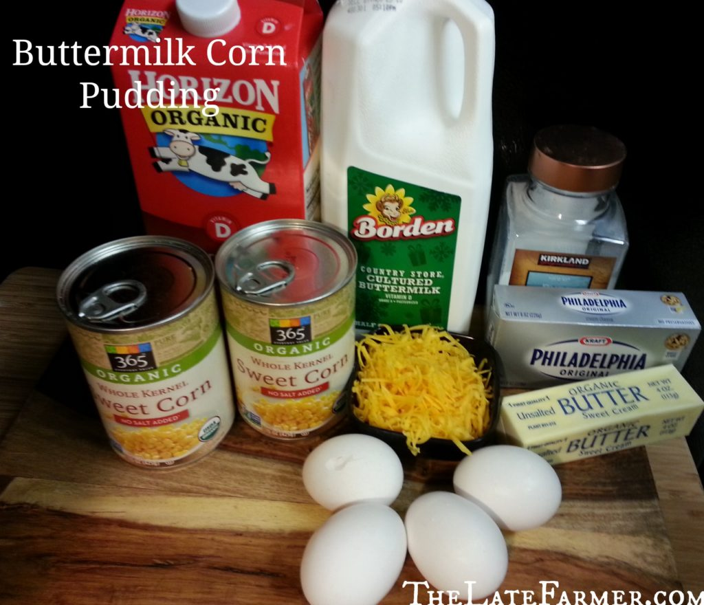Buttermilk Corn Pudding - TheLateFarmer.com Recipe