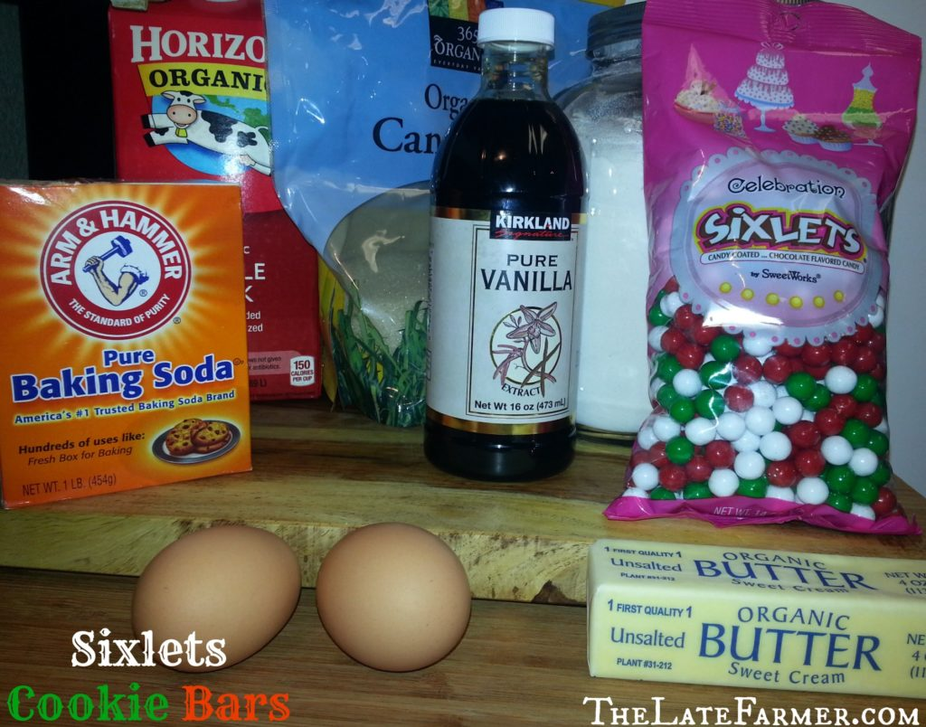 Sixlets Cookie Bars - TheLateFarmer.com Recipe