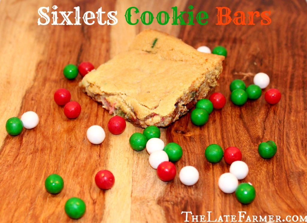 Sixlets Cookie Bars - TheLateFarmer.com