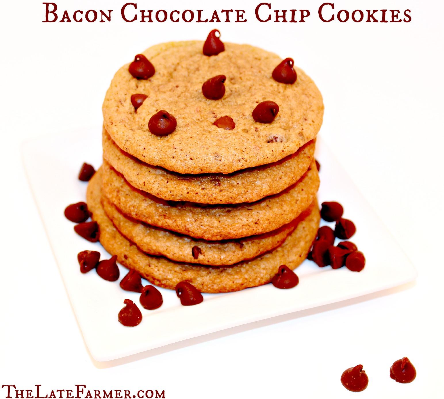 Bacon Chocolate Chip Cookies - TheLateFarmer.com Recipe