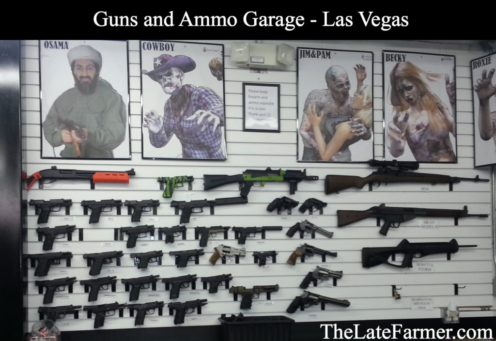 Guns and Ammo Garage - Gun Display - TheLateFarmer.com