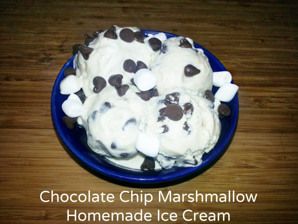 Chocolate Chip Marshmallow Homemade Ice Cream - TheLateFarmer.com