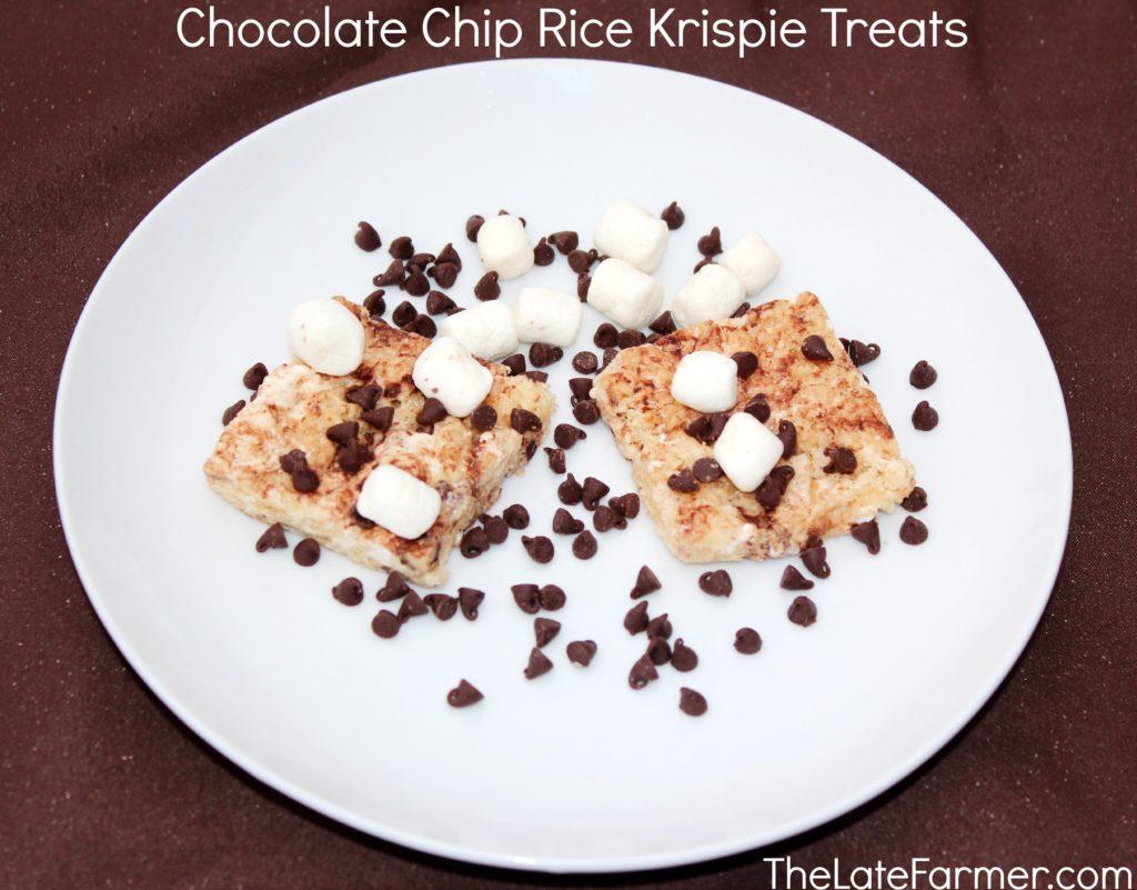 Chocolate Chip Rice Krispie Treats - TheLateFarmer.com