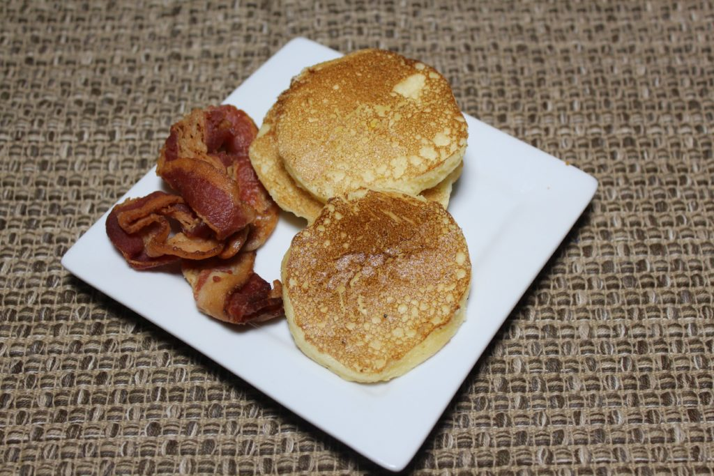 White Chocolate Silver Dollar Pancakes - TheLateFarmer.com